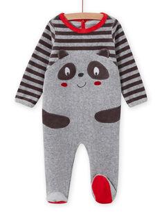 Baby Boy grauer Strampler mit Panda-Motiv MEGAGREPAN / 21WH1483GREJ918