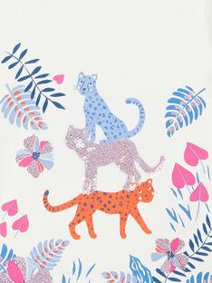 Weißes T-Shirt mit Pflanzen- und Leopardenprint LABLETEE2 / 21S901J1TML001