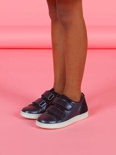 Marineblaue Low-Top-Sneakers für Kind Mädchen mit irisierendem Effekt MABASVEL / 21XK3554D3F070