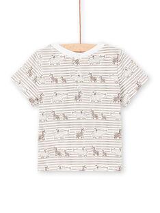 Baby Boy T-Shirt mit braunen Streifen LUTERTI3 / 21SG10V3TMC001