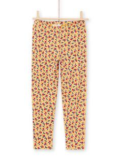 Baby Mädchen Senf Blumendruck Leggings MYAMIXLEG1 / 21WI01J2CALB106