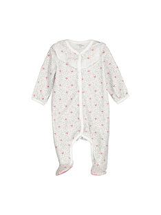 Baby-Strampler aus Samt für Mädchen FOU1GRE2 / 19SF0512GRE099