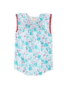Weißer Baby-Spielanzug für Mädchen, bedruckt JIPLABAR2 / 20SG09X1CBL000