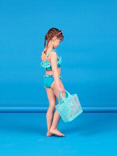 Baby Mädchen 2-teiliger türkisfarbener Badeanzug LYABIK2 / 21SI01DCMAIG621