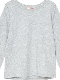 Grau chiniertes langärmeliges T-Shirt JAESTEE3 / 20S90164D32943