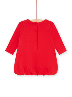 Baby Mädchen rotes Kleid LIHAROB3 / 21SG09X2ROB505