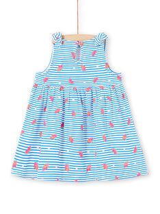 Weißes Baby Mädchen Kleid LIPLAROB1 / 21SG09T3ROB000