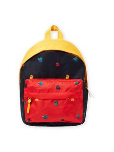 Colorblock-Rucksack für Jungen mit Monster-Print MYOCLASAC / 21WI02G1BES705
