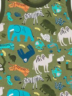 Khaki grüner Schlafanzug für Jungen LEGOPYCAOP / 21SH12C6PYJ604