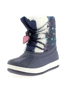 Girls' fur lined snow boots DFMONTVIN / 18WK35X1D3N070