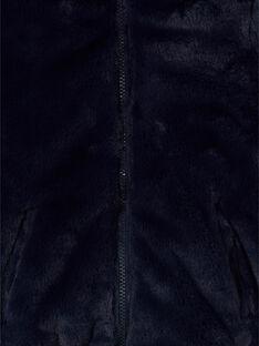 Wendbare blaue Kapuzenjacke mit ausgefallenem Druck LAFOUDOUNE / 21S901R1D3E070