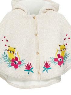 Baby-Strickumhang für Mädchen JIVICAPE / 20SG09I1CPE001