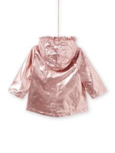 Baby Mädchen rosa Kupfer Parka LIFANPARK / 21SG09R1PAR030