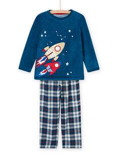 Schlafanzug-Set mit phosphoreszierendem Weltraummotiv für Kind Junge MEGOPYJFUZ / 21WH1297PYJC214