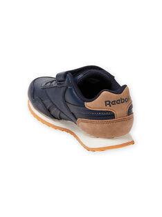 Reebok marineblaue Turnschuhe mit braunen Details Kind Junge MOG58316 / 21XK3644D36070