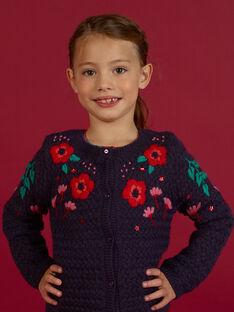 Langärmelige Baby-Mädchen-Strickjacke mit floraler Stickerei MAFUNCAR2 / 21W901M1CARH703