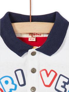 Off-weißer Baby-Junge-Bodysuit LUHABOD1 / 21SG10X2BOD001
