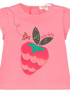 Bedrucktes Baby-T-Shirt für Mädchen FIYETI / 19SG09M1TMC309