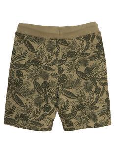 Khakifarbene Bermudas aus Molton für Jungen, mit Tropenmuster JOSAUBER4 / 20S902Q1BER628