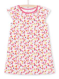 Weißes Nachthemd Kind Mädchen LEFACHUFRU / 21SH11C1CHN000