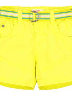 Gelbe Baby-Bermudashorts für Jungen FUCABER1 / 19SG10D1BER117