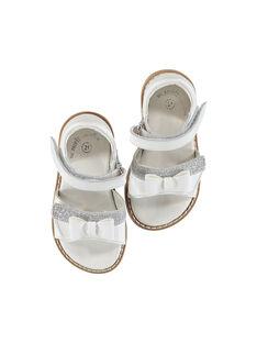 Sandalen aus Leder für draußen Babys Mädchen FBFSANDVEL / 19SK37C3D0E000