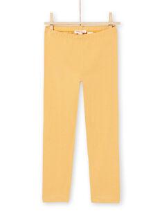 Gelbe Leggings für Mädchen MYAJOLEG2 / 21WI0112CALB106