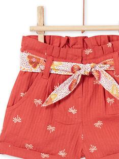 Baby Mädchen braune Shorts LITERSHO / 21SG09V2SHOF519
