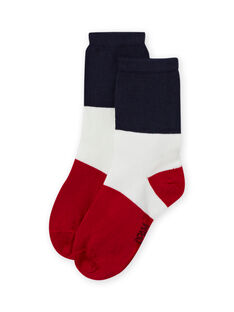 Socken blau und rot, kleiner Junge MYOJOCHOC3 / 21WI0213SOQ705