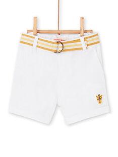 Weiße Bermudashorts Baby Boy LUBALBER / 21SG10O1BER000