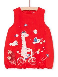 Baby Mädchen rotes Kleid LICANROB4 / 21SG09M2ROBF505