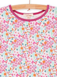 Rosa und grünes Kleid mit Blumendruck LAVIROB4 / 21S901U4ROB000