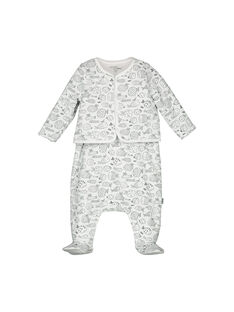Unisex-Set aus Latzhose und Weste für Babys FOU1ENS2 / 19SF0512ENS099