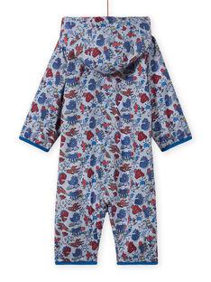 Grauer Regenanzug für Baby-Jungen mit Dinosaurier-Print MUGROCOM / 21WG1051CBP943