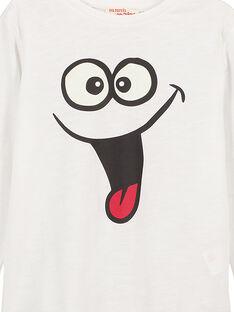 Rundhals-T-Shirt mit langen Ärmeln Ecru GOJOTISLU2 / 19W90245D32001