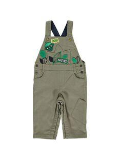 Baby boys' khaki dungarees DUVESAL / 18WG1071SAL609