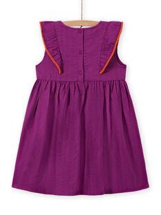 Besticktes Skaterkleid für Mädchen in Lila MAPAROB2 / 21W901H2ROB712