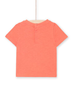 Kurzärmeliges rotes Baby-Jungen-T-Shirt LUBONTI2 / 21SG10W4TMCF504