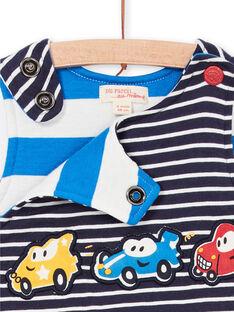 Baby-Junge gestreifte Nacht blau Latzhose LUHASAL1 / 21SG10X2SAL713
