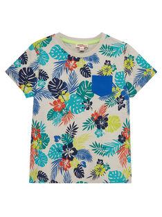 Kurzärmeliges T-Shirt mit Tropenaufdruck für Jungen JOMARTI6 / 20S902P1TMCI811