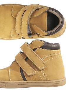 Beigefarbene Sneakers aus Nubukleder für Kinder Jungen GGBASBOOT / 19WK36I7D3F804