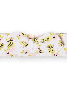 Weiß, gelb und rosa Baby Mädchen Stirnband LYIBALBAN1 / 21SI09O1BAN000