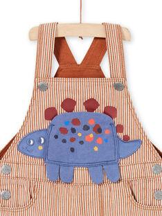 Baby Boy's gestreifte Twill Dinosaurier Latzhose MUPASAL / 21WG10H1SALI811