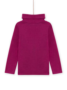 Lila Twill-Unterhosen für Mädchen mit ausgefallenem Muster MASKISOUP / 21W901R1SPLH704