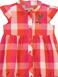 Kariertes Babykeid für Mädchen FIYEROB4 / 19SG09M4ROB000