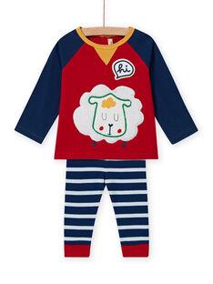 Baby Boy's gestreifte Leggings und Schaf T-Shirt Set MUMIXENS / 21WG10J1ENS505