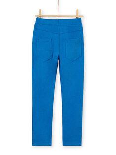 Blaue Baumwollhose für Jungen LOJOPAN1 / 21S90233PAN702