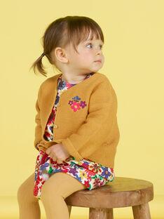 Baby Mädchen Senf bestickte Strickjacke MIMIXCAR / 21WG09J1CARB106