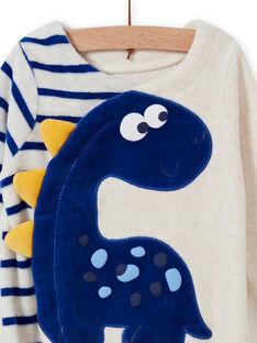 Baby Jungen ecru Dinosaurier Strampler MEGAGRENOS / 21WH1485GRE006