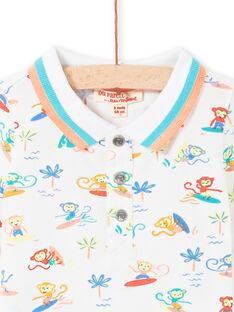 Baby Boy Weißes Polo LUBONPOL / 21SG10W1POL000